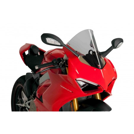 Bulle Puig Racing Fumé Clair Ducati Panigale V4